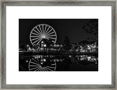 Night At The Island In Black And White Framed Print