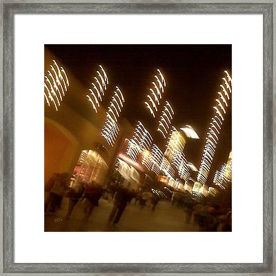 Night At The Mall Framed Print