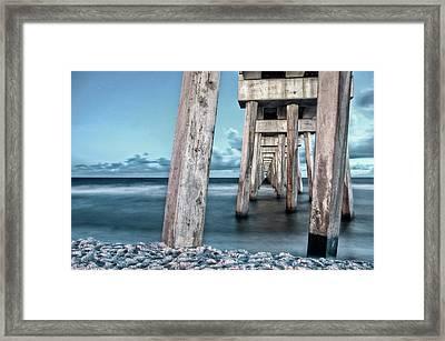 Night At The Pier Framed Print