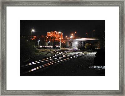 Night At The Railyard Framed Print