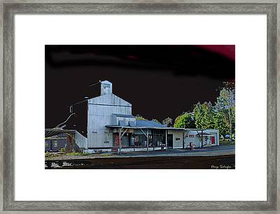 Night At The Ringtown Feed Mill Framed Print by Doug Schiefer