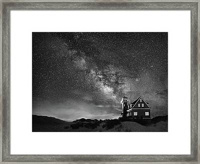 Night At The Station Framed Print