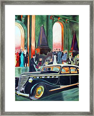Night At The Theater Framed Print by Margaret Fortunato