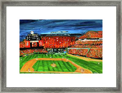 Night At The Yard Framed Print