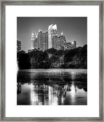Night Atlanta.piedmont Park Lake. Framed Print