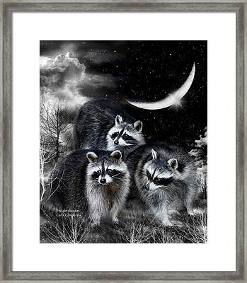 Night Bandits Framed Print by Carol Cavalaris