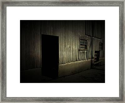 Night Barn Framed Print