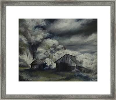 Night Barn Framed Print by James Christopher Hill