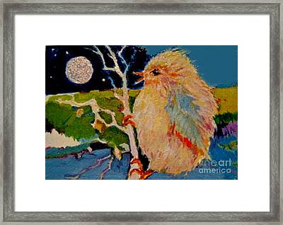 Framed Print featuring the painting Night Bird by Diane Ursin