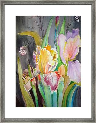 Framed Print featuring the painting Night Blooms by AnnE Dentler