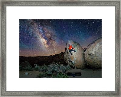 Night Bouldering Framed Print by Evgeny Vasenev