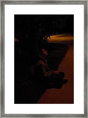 Night Boy Framed Print