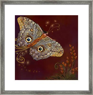 Night Butterfly  Framed Print by Thanh Thuy Nguyen