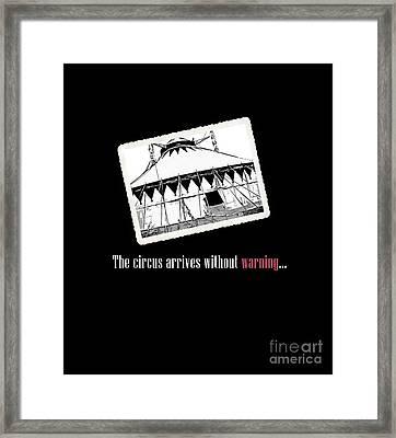 Night Circus Tee Black Framed Print