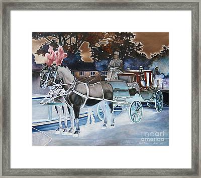 Night Coach Framed Print
