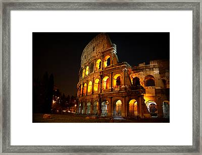 Night Colosseum Framed Print by Kevin Flynn