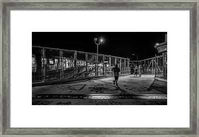 Night Commute  Framed Print by Jeffrey Friedkin
