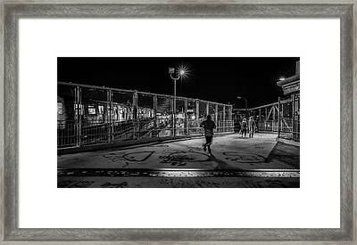 Night Commute  Framed Print