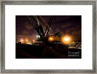 Night Crane Framed Print by Jorgo Photography - Wall Art Gallery