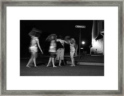 Night Dancing Framed Print
