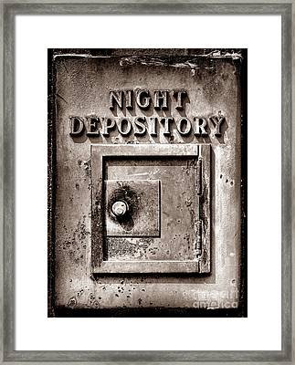 Night Depository Framed Print