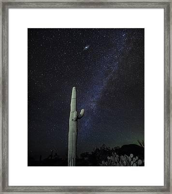 Night Desert Skies Framed Print by Charles Warren