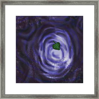Night Dreams Of The Sky In A Puddle Framed Print by Joseph Bradley