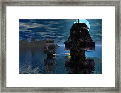 Night Encounter Framed Print by Claude McCoy