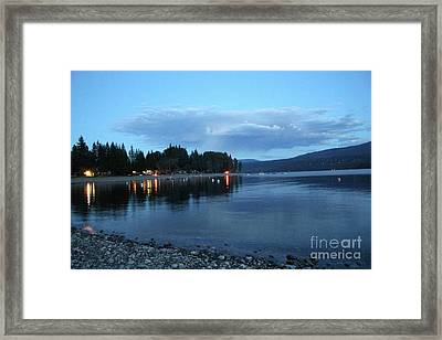 Framed Print featuring the photograph Night Fall by Victor K