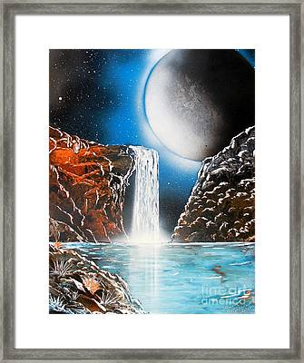 Night Falls 4679 Framed Print
