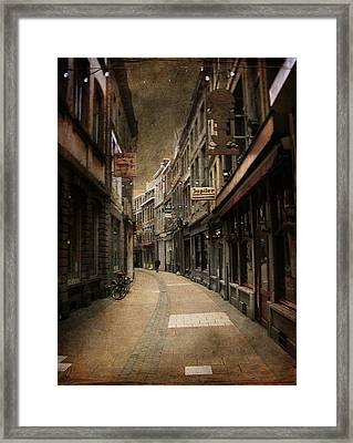Framed Print featuring the digital art Night Falls by Margaret Hormann Bfa