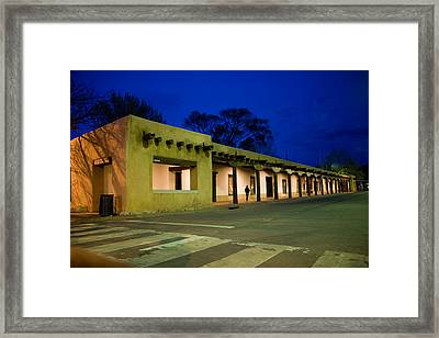 Night Falls On The Palace Of The Framed Print by Stephen St. John