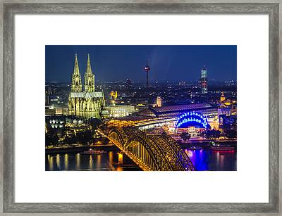 Night Falls Upon Cologne 2 Framed Print