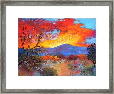 Night Fever Framed Print by M Diane Bonaparte