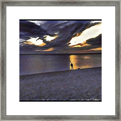 Night Fisher Framed Print