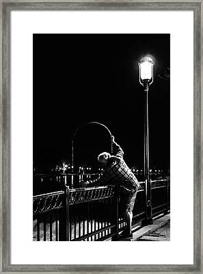 Night Fishing On The Fox River Framed Print by Jeanette Fellows