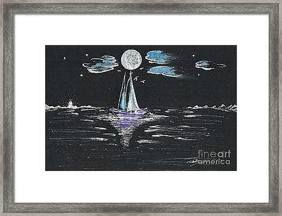 Night Fishing Framed Print