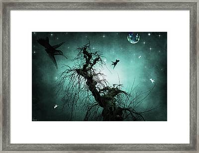 Framed Print featuring the digital art Night Flight by Margaret Hormann Bfa