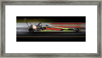 Framed Print featuring the digital art Night Flight by Peter Chilelli