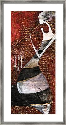 Night Flute Framed Print by Maya Manolova
