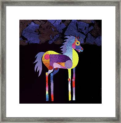 Night Foal Framed Print by Bob Coonts
