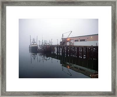 Night Fog Along The Dock Framed Print by Bob Orsillo