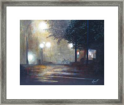 Night Fog Framed Print by Victoria Heryet