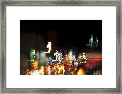 Night Forest - Light Spirits 1 Of 1 Framed Print