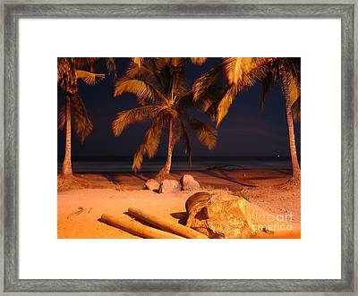 Night Forever Captured Framed Print by Chad Natti
