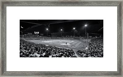 Night Game In Mesa Framed Print