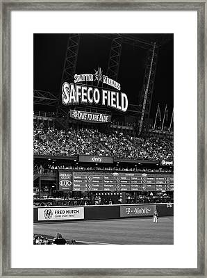 Night Game - Safeco Field Framed Print by Daniel Hagerman