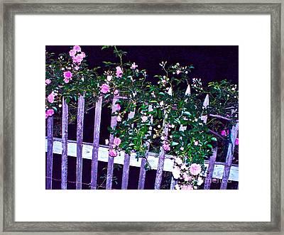 Night Gate Framed Print by Chuck Taylor