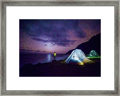 Framed Print featuring the photograph Night Gazer by Artistic Panda
