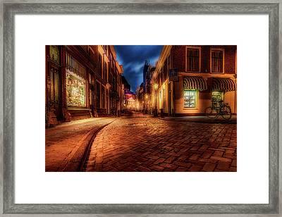 Night Glow - Leiden Framed Print